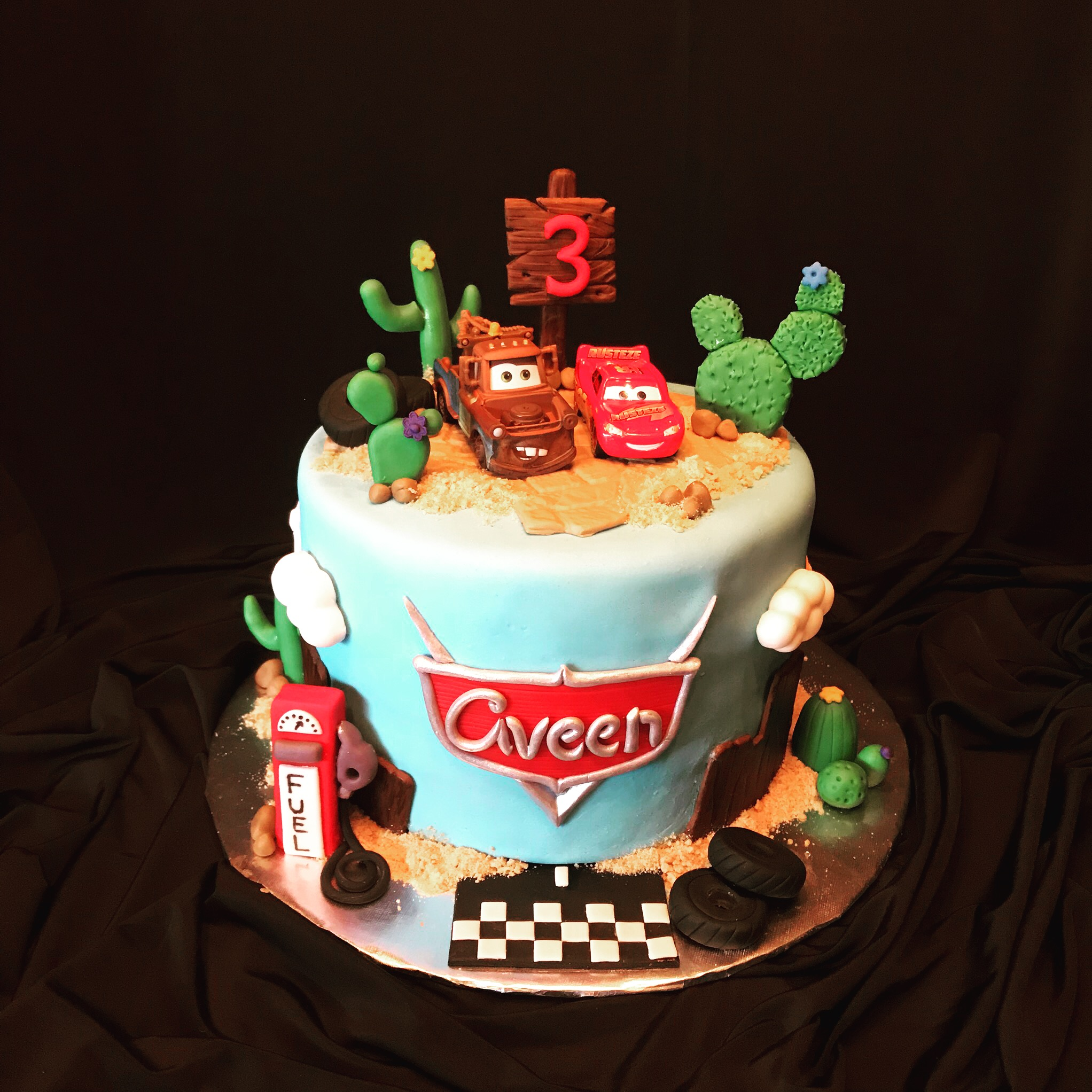 Cars cake 18'