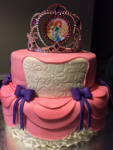 Princess inspired birthday cake