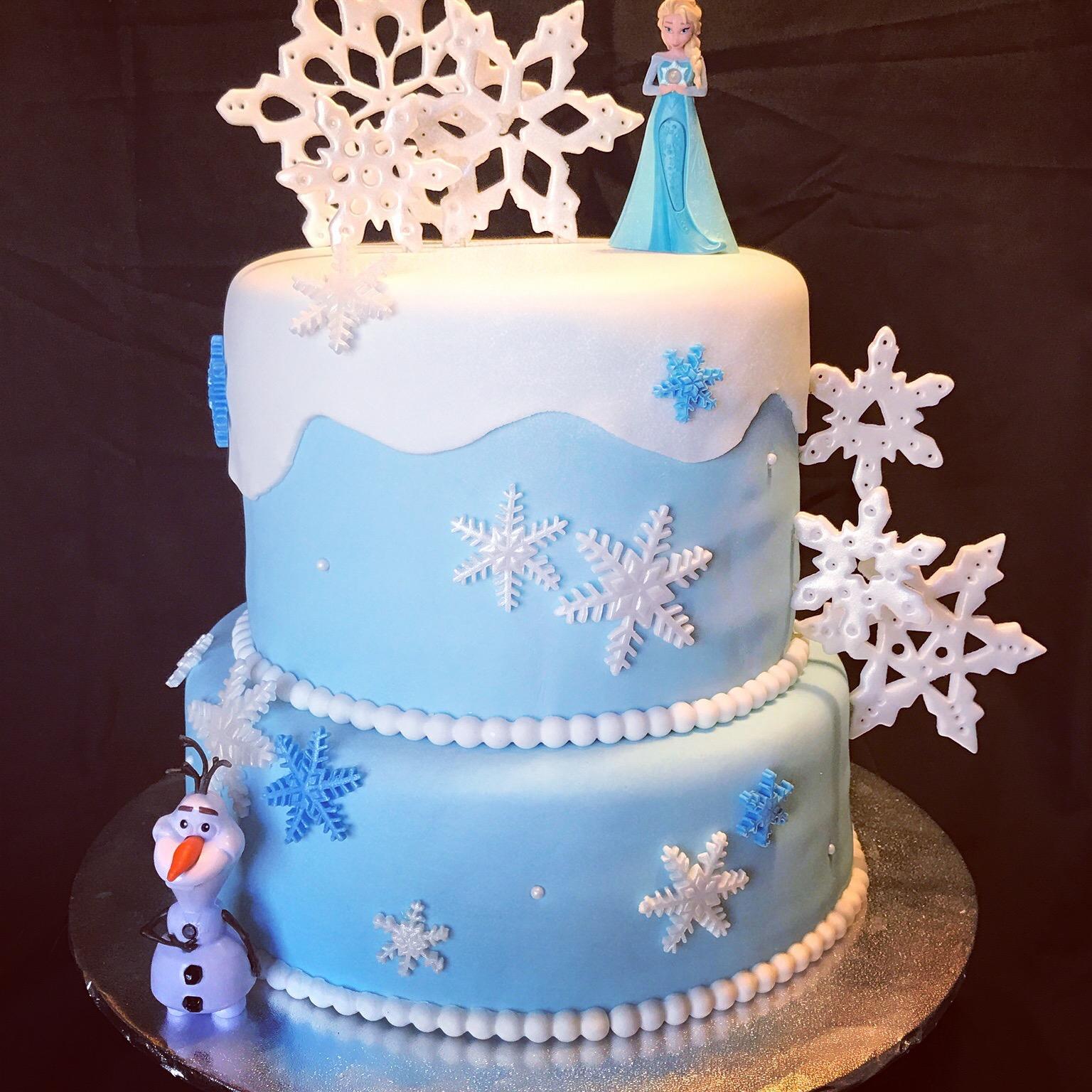 Frozen theme birthday cake