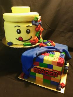 Lego themed cake