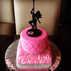 Pole dancing birthday cake