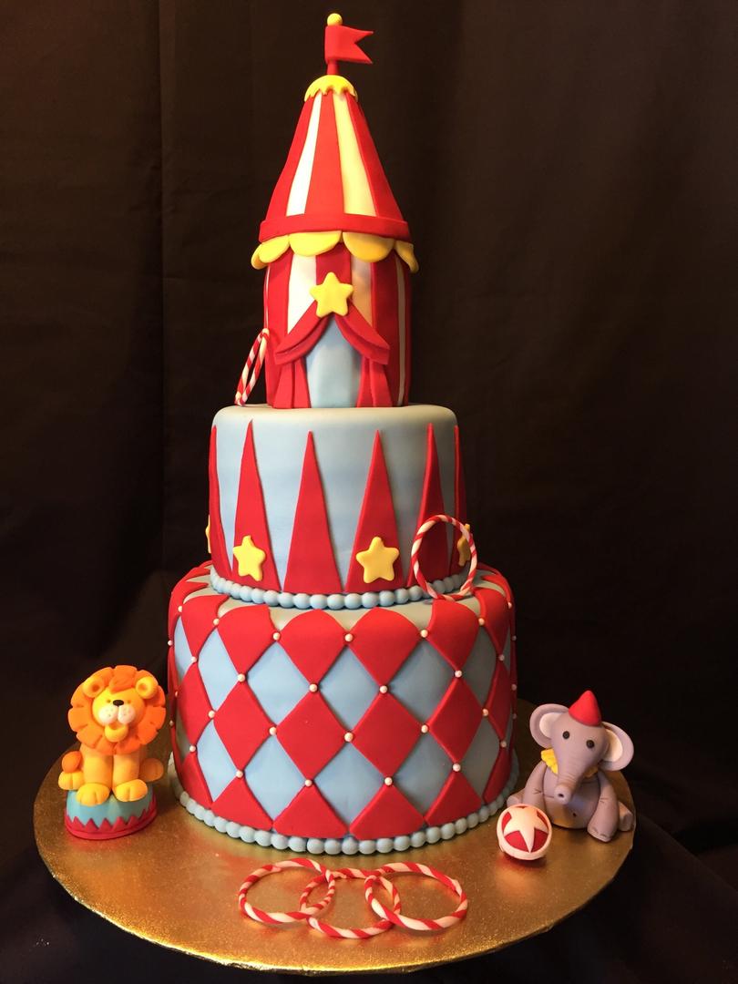 Birthday Circus Cake