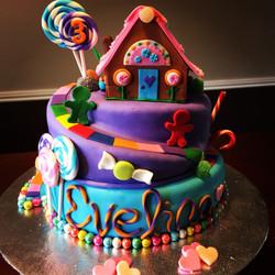 candy board game cake