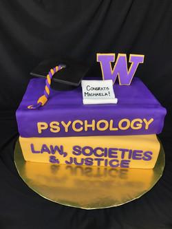 UW graduation cake