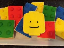 Lego inspired cookies