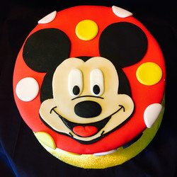M. Mouse inspired birthday Cake