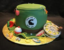 Fishing hat cake