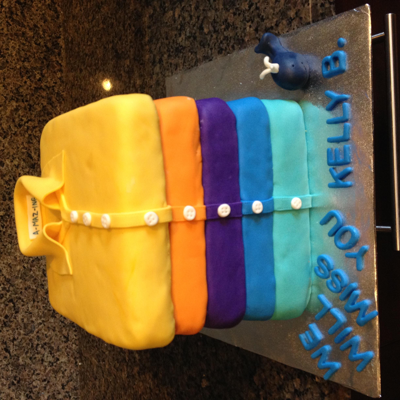 Button down shirts cake