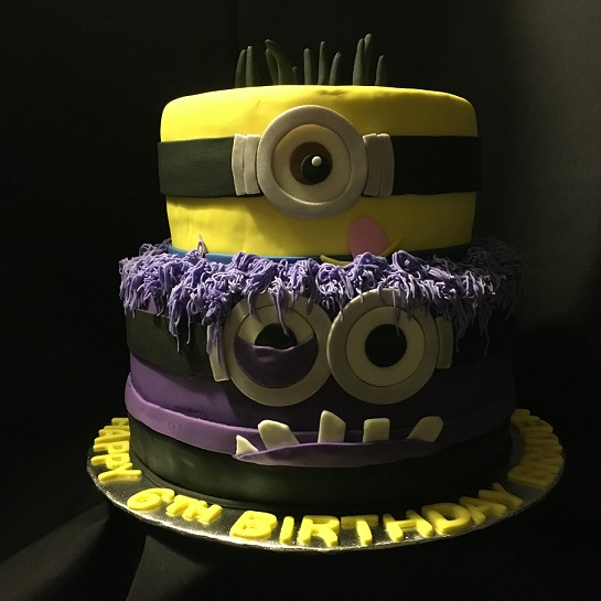 Happy & Angry Minion cake