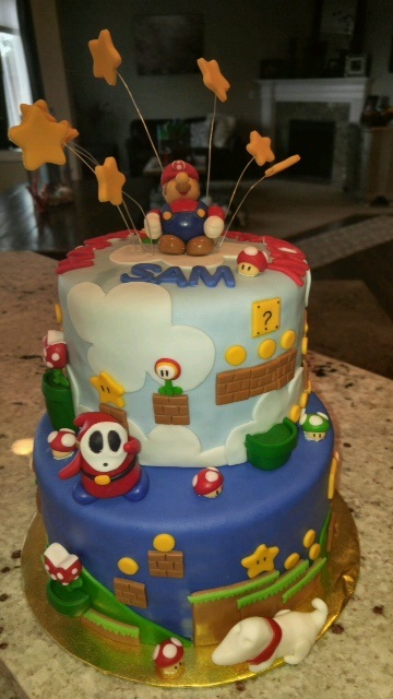 Video game tribute cake
