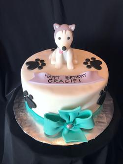 Huskey Dog cake