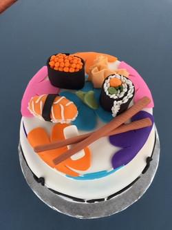 Sushi delight cake