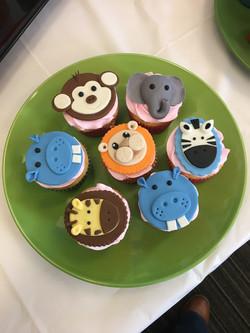 Baby Jungle Animal  Cupcakes