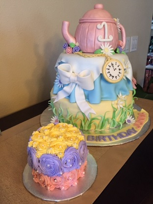 Tea party cake & smash cake