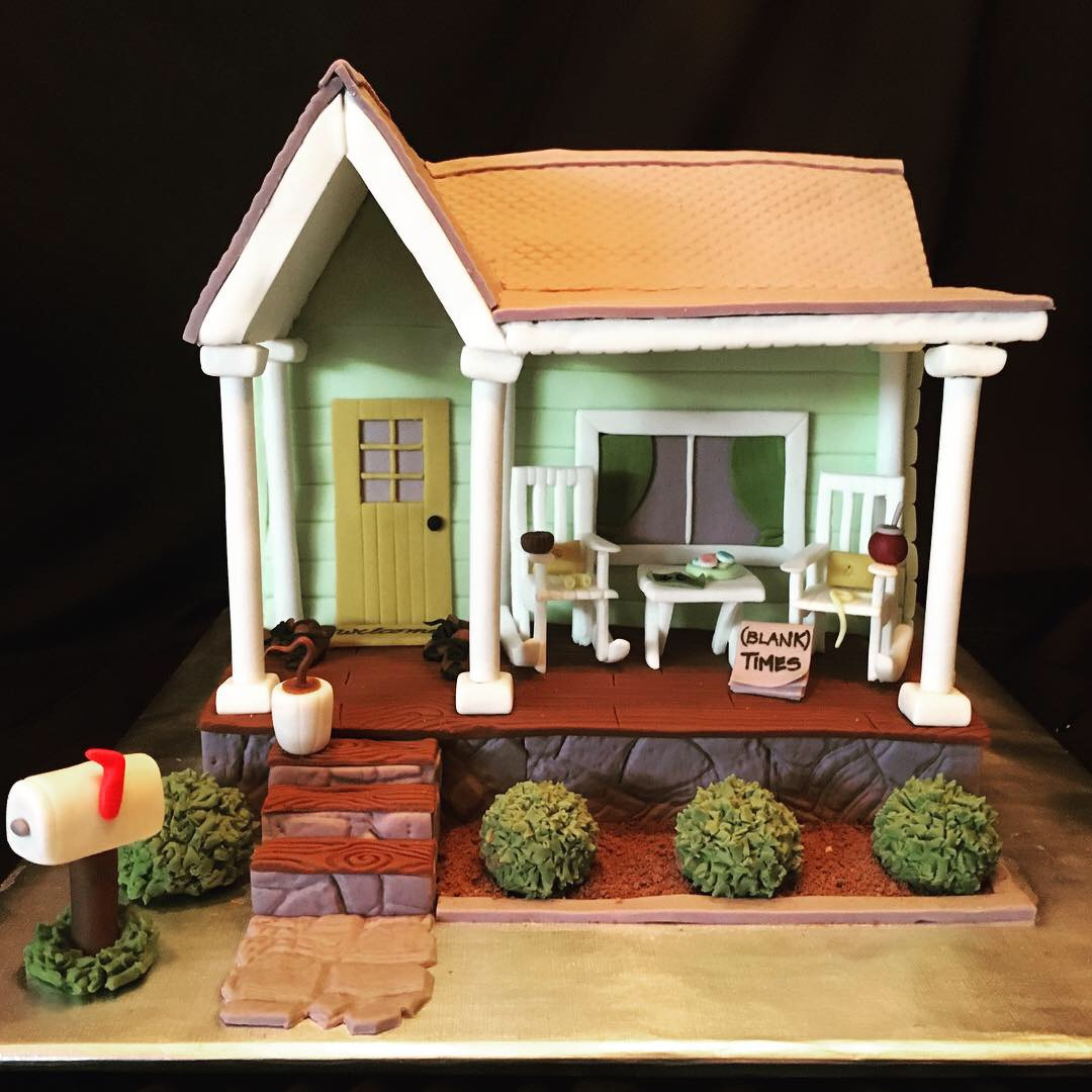 Rocking chair house cake
