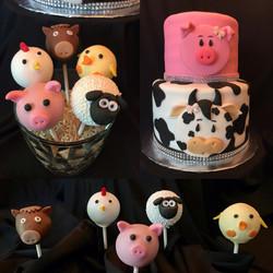 Farm animal cake/cake pops