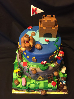 Flash back video game cake