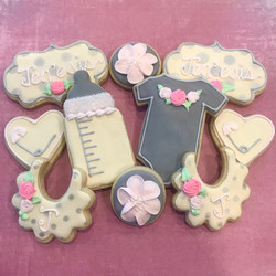 Baby shower theme cookies