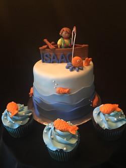 Gone Fishing Cake/cupcakes