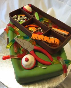 Tackle box cake