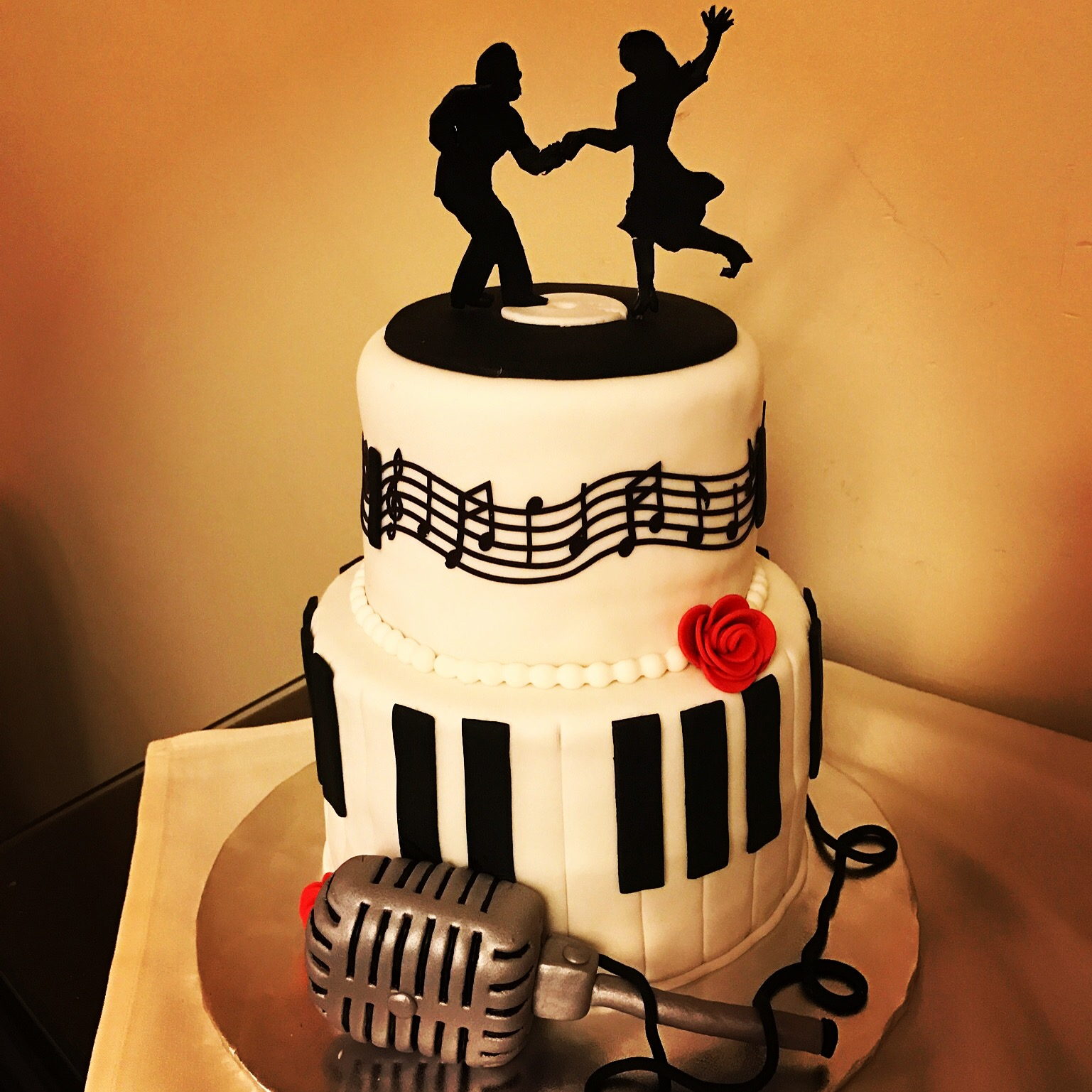 1920's theme birthday cake
