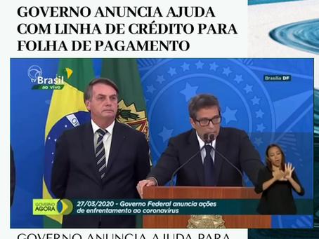 GOVERNO ANUNCIA AJUDA PARA PEQUENAS EMPRESAS PAGAREM SALÁRIOS