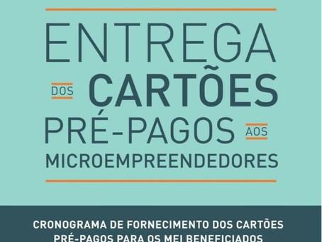 Entrega dos CARTÕES dos PRÉ-PAGOS aos MICROEMPREENDEDORES