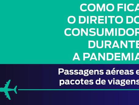 Cartilha sobre os direitos do consumidor que tem viagem marcada