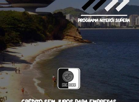 Programas Niterói Supera: crédito sem juros para empresas, cooperativas e profissionais liberais.