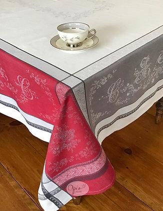 Romantique Red Jacquard Tablecloth - $79-159