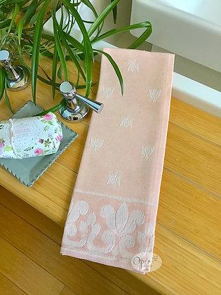 Bee Tea Towel -Salmon