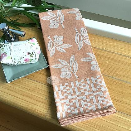 Olive Tea Towel - Orange