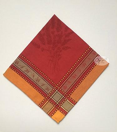 Senanques Red Jacquard Napkin - set of two