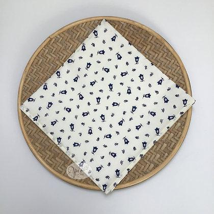 Tradition White/Blue Napkin - set of two