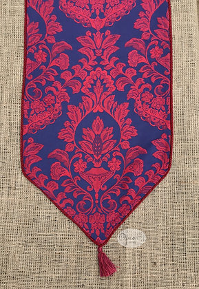 Italian Red Brocade Runner/Scarf