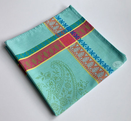 Cassis Turquoise Jacquard Napkin - set of two