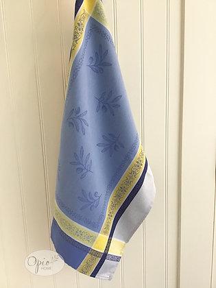 Olivia Tea Towel -Blue/yellow