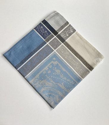 Versaille Ecru/Blue Jacquard Napkin - set of two