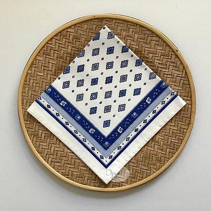 Mirabeau Ivory/Blue Napkin - set of two