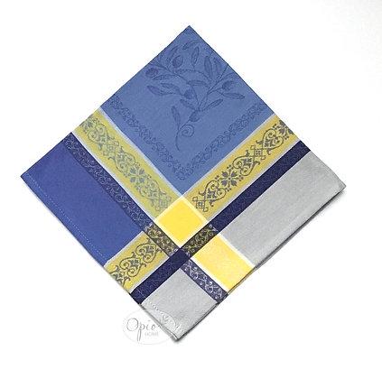 Olivia Blue Jacquard Napkin - set of two