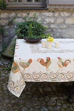 Toselli Chanteclair Tapestry Weave Jacquard Tablecloth