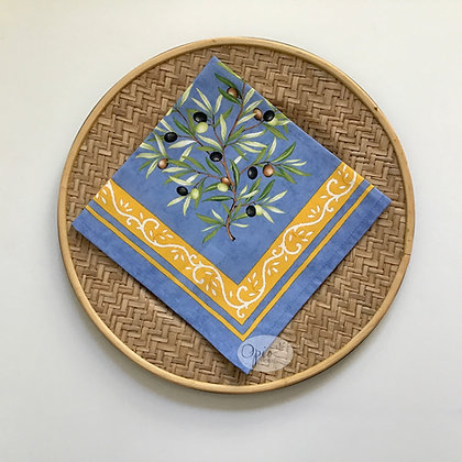 Clos Des Oliviers Blue Napkin - set of two