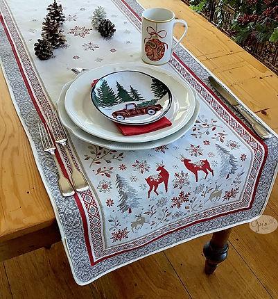 Vallee Ivory Tapestry Runner