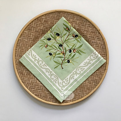 Clos Des Oliviers Green Napkin - set of two