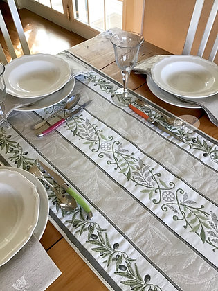 Auriol Sage/Gray Tapestry Runner