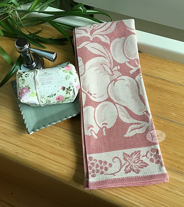 Frutta Tea Towel - Rose