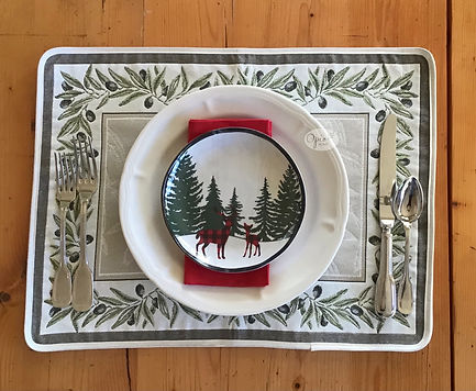 Auriol Sage Tapestry Weave Placemat