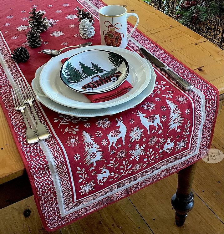 Vallee Red Tapestry Runner