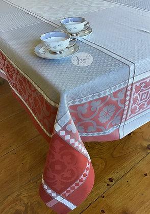 Marius Rouge Jacquard Tablecloth - $79-159