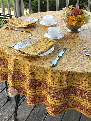 Gentiane Yellow Round Coated Cotton  -  $89